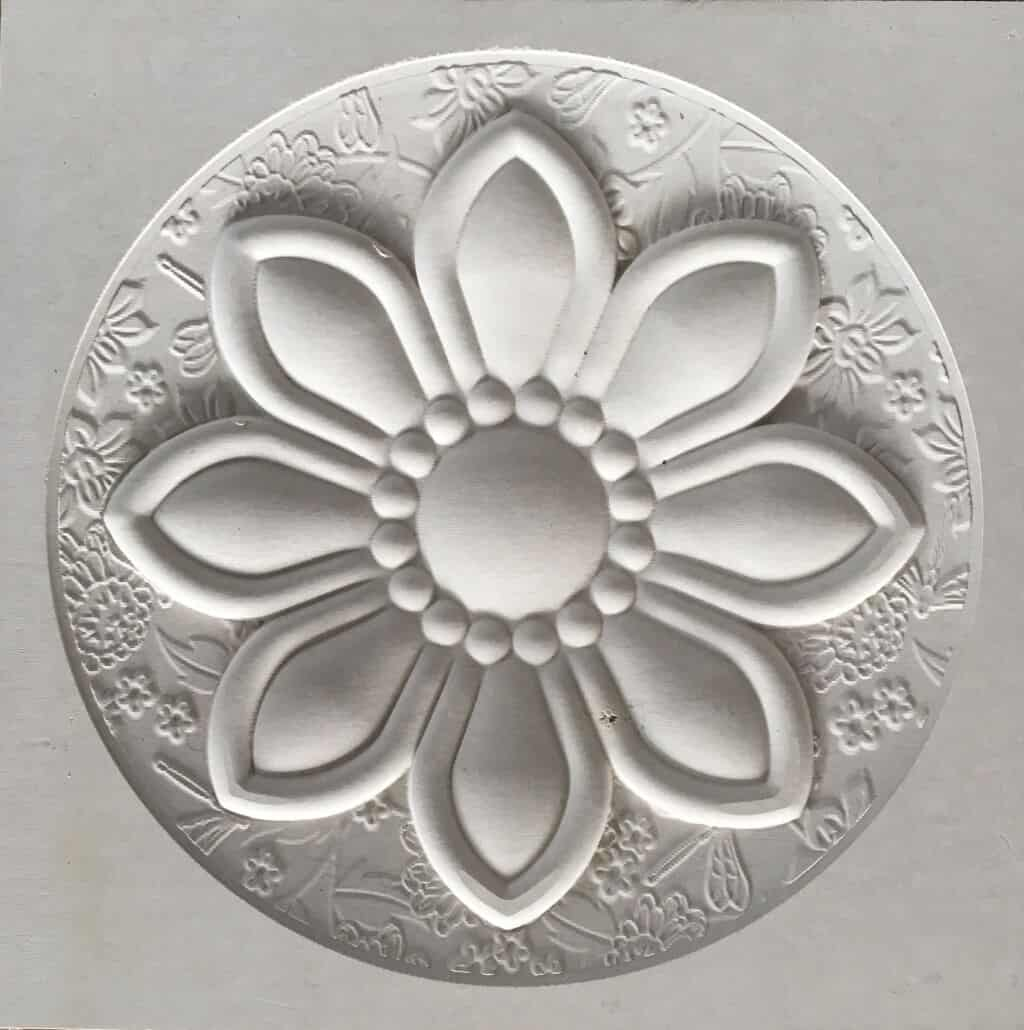 cnc stone router flower relief marble