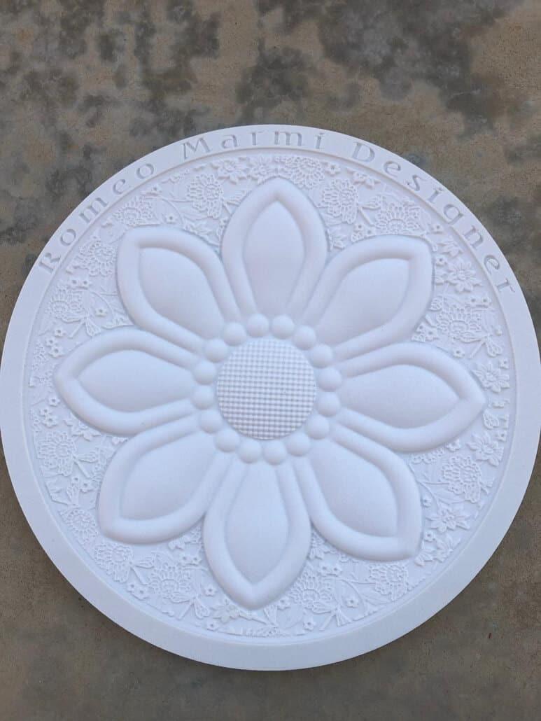 flower engraving in marble